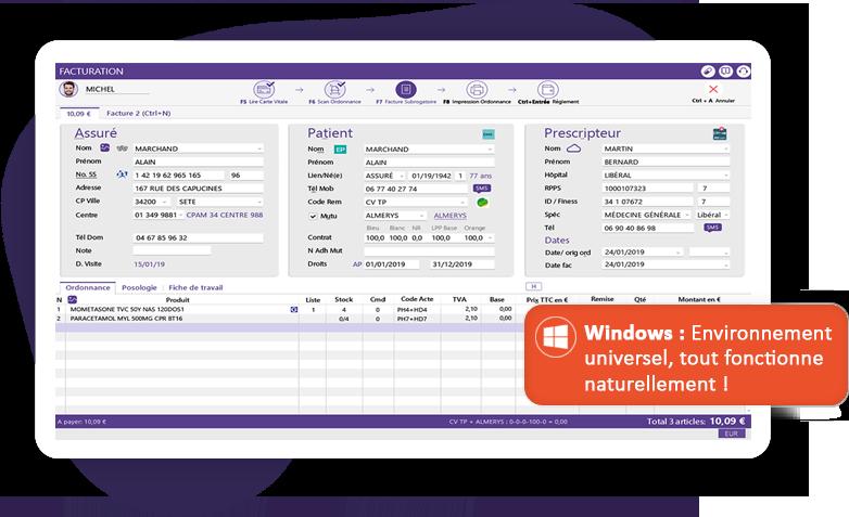 Logiciel de pharmacie avec un environnement Windows