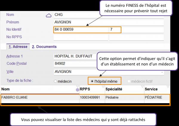 Trucs & Astuces Winpharma - Médecins et Hôpitaux
